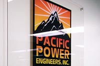 Pacific Power Engineers office sign