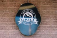 granite rock grill outdoor sign
