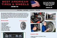 Best American Tires and Wheels website