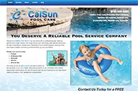 CalSun Pool Care website