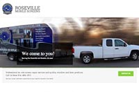 Roseville Mobile Screens website